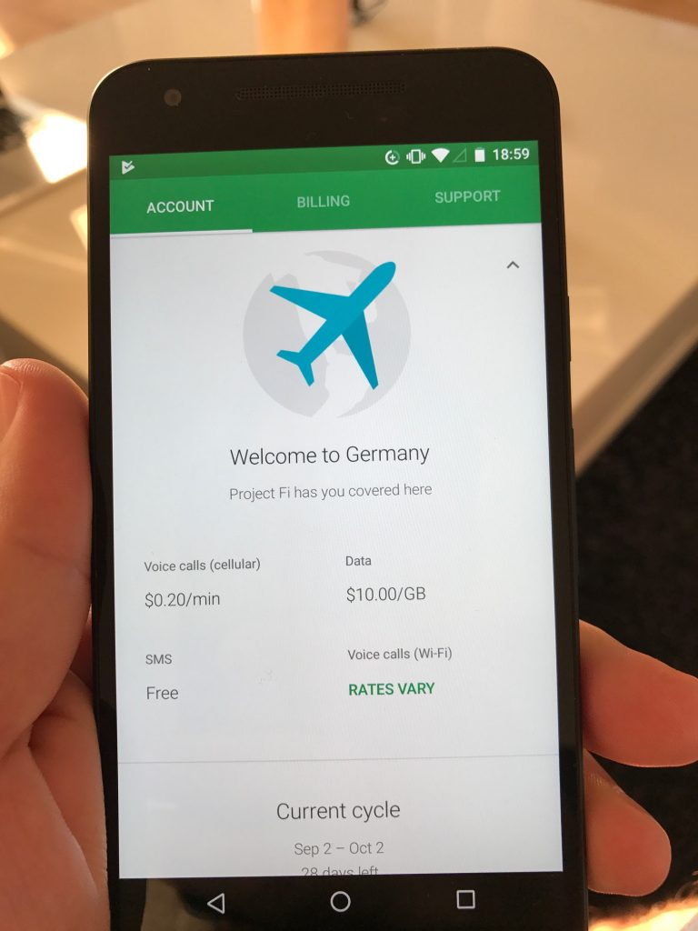Google Fi - Welcome to Germany