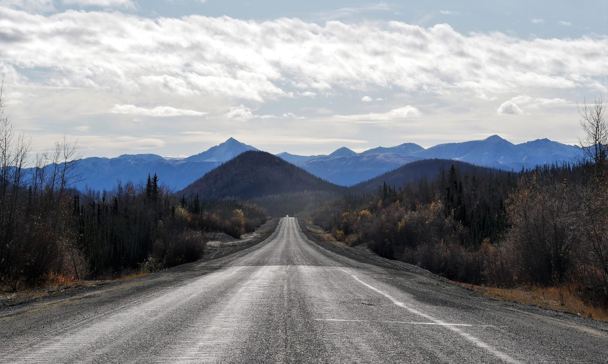 Auf dem Weg von Tok nach Whitehorse