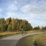 Joggen entlang des Tony Knowles Coastal Trails