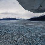 Flug über den Knik Glacier