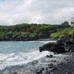 Road to Hana- Honokalani Black Sand Beach