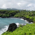 Road to Hana- Honokalani Black Sand Beach